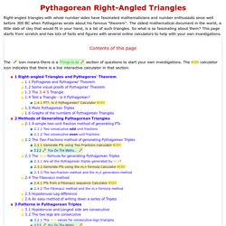 Pythagorean Triangles and Triples