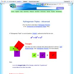 Pythagorean Triples - Advanced