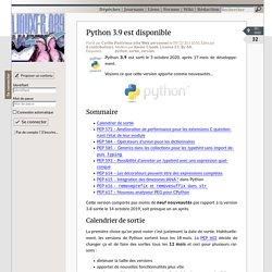 Python 3.9 est disponible