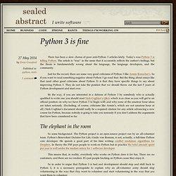 Python 3 is fine