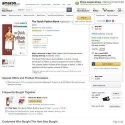 The Quick Python Book: Amazon.co.uk: Naomi R. Ceder: 9781935182207: Books