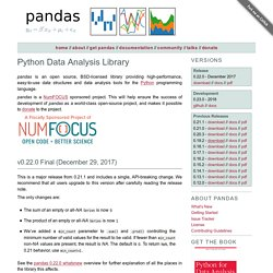 Python Data Analysis Library — pandas: Python Data Analysis Library