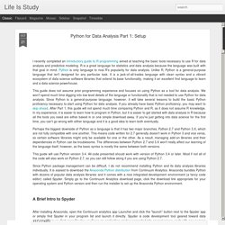 Life Is Study: Python for Data Analysis Part 1: Setup