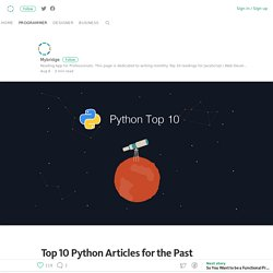 Top 10 Python Articles for the Past Month (v.July)