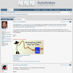 Python and AutoHotKey - AutoHotkey Community
