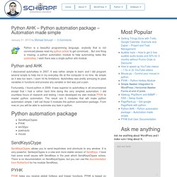Python AHK - Python automation package - Automation made simple