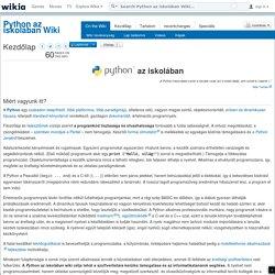 Python az iskolában Wiki - Wikia