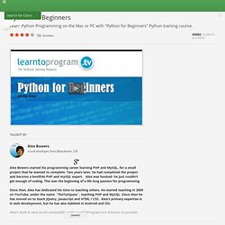 Python for Beginners - Python Training Course - Udemy