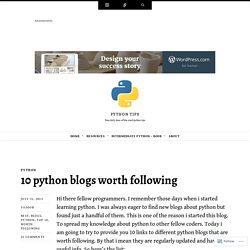 10 python blogs worth following