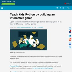 Teach kids Python by building an interactive game