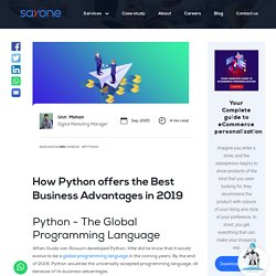 How Python offers the Best Business Advantages in 2019