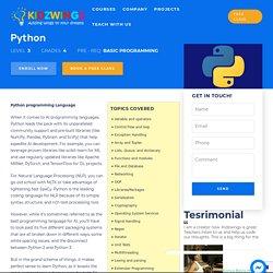 Basic Python Classes Online For Kids
