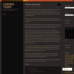 (Python) Decorators