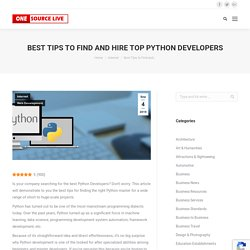 Best Tips to Find and Hire Top Python Developers