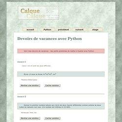 python devoirs