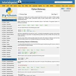 Python - Dictionary Data Type
