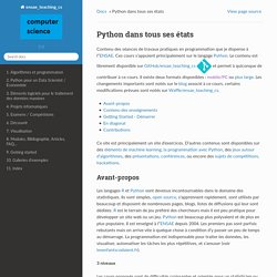 Python dans tous ses états — Python dans tous ses états 0.8.1785