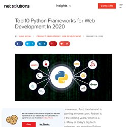 Top 10 Python Frameworks for Web Development In 2019
