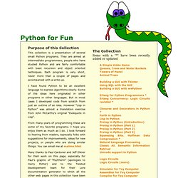 Python for Fun