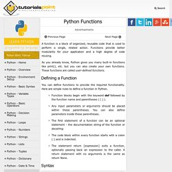 Python - Functions