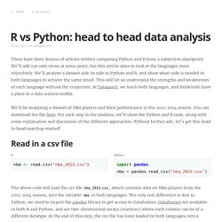 R vs Python: head to head data analysis
