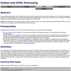 Python and HTML Processing