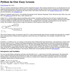 Python In One Easy Lesson