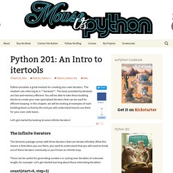 Python 201: An Intro to itertools