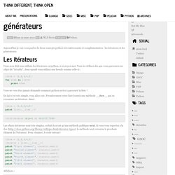 Python : Les itérateurs et les générateurs