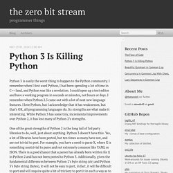 Python 3 Is Killing Python - the zero bit stream