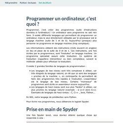 Python : les bases