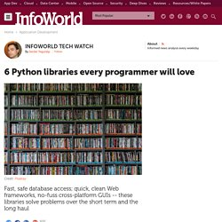 6 Python libraries every programmer will love