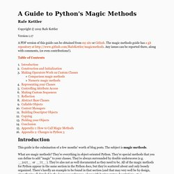 A Guide to Python's Magic Methods « rafekettler.com
