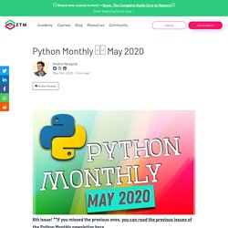 Python Monthly □□ May 2020