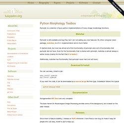 Python Morphology Toolbox