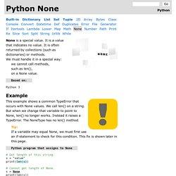 Python None Use: TypeError