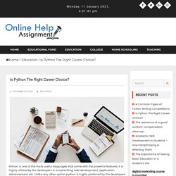 Is Python The Right Career Choice? - onlinehelpassignment.com