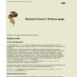 Python page Richard Gruet @ free.fr