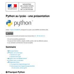 Python-Presentation