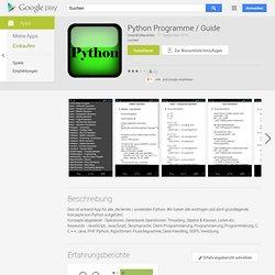 Programmes Python / Guide