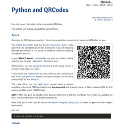 Python and QRCodes