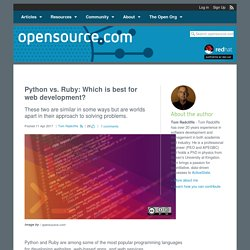 Python vs. Ruby: Which is best for web development?