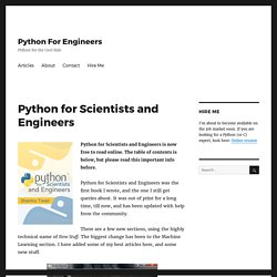 Python for Scientists and Engineers – Python For Engineers