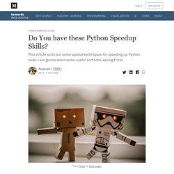 Do You have Python Speedup Skills?
