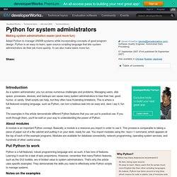Python for system administrators