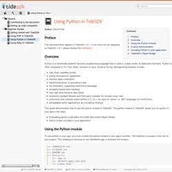 Using Python in TideSDK - TideSDK Documentation