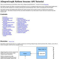 Python API Tutorial for AllegroGraph 4.0