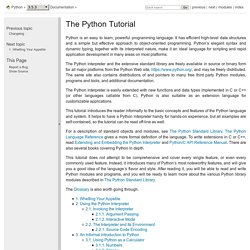 The Python Tutorial — Python 3.5.1 documentation