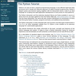 The Python Tutorial — Python v2.7.1 documentation