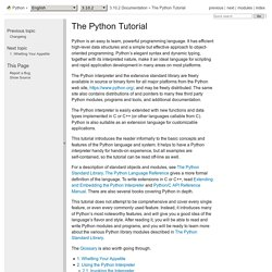 The Python Tutorial — Python v3.3.0 documentation
